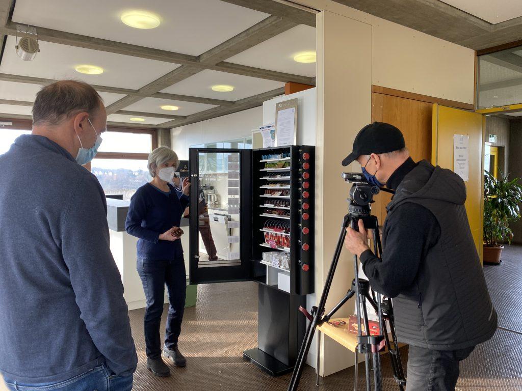 Dreharbeiten des SWR-Fernseh-Teams im Rathaus Aalen
